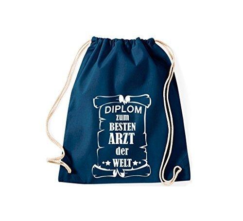Shirtstown Bolsa de gimnasio Diploma a la besten Médico der Welt Azul