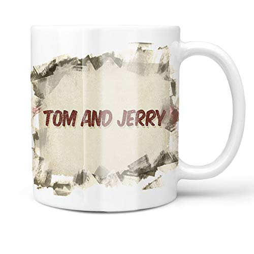 (Neonblond 11oz Coffee Mug Tom and Jerry Cocktail, Vintage style with your Custom Name)