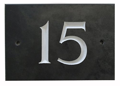 The House Nameplate Company Black Slate House Number