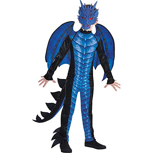 Black and Blue Dragon Halloween Costume for Boys,