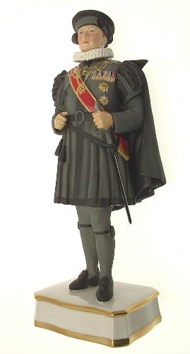 (Royal Worcester Privy Chamberlain of the Sword and Cape to the Pope in Spanish Costume prototype figure RW3589 F391)