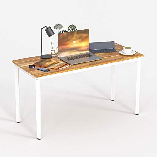 Best home office desk: Simple Design Computer Desk 39.37 Writing Table Wooden Desk Small Industrial Home Office Desk