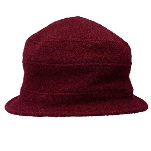 Cappello In Fiori A A218 Delle Lana Vestito 100 Cloche Cap Vino Di Retrò Donne Lawliet Benna FBA6w