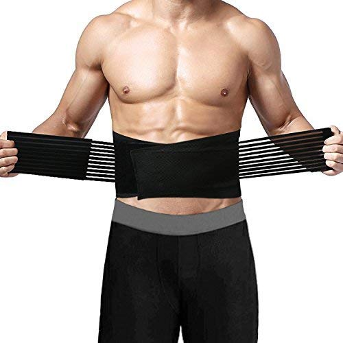 Back Brace Waist Support Protector Trimmer, We4U Weightlifting Lumbar Support Belt for Lower Back Pain, Adjustable Compression Straps,Supportive and Comfortable,Prevent and Relieve Back Pain by We2U (Image #1)