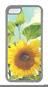 Hot iPhone 5C Case - Landscape-Sunflower Lovely Milk Bottles Funny Lovely Best Cool Customize iPhone 5C Cover TPU Transparent