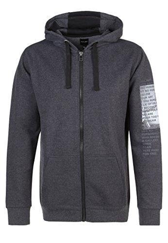 98-86 Men's Men's Anthracite Grey Melange Sweatshirt In Size L Grey