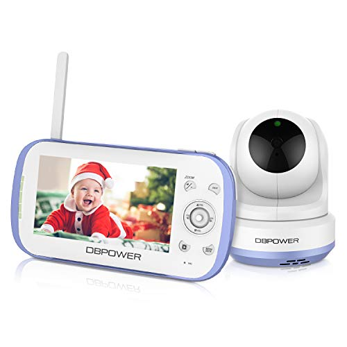 DBPOWER Video Baby Monitor with 4.3' LCD Screen, 270° Pan-Tilt-Zoom, Two Way...