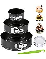 "Non-stick Springform Pan set 3 pcs(4"" 7"" 9""), Round cake pan with Removable Bottom,Leakproof Pan bakeware set"