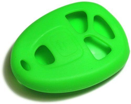 Grand Prix Soft Shell (Green Silicone Key Fob Cover Case Smart Remote Pouches Protection Key Chain Fits: Pontiac Grand Prix 05-08 w/remote)