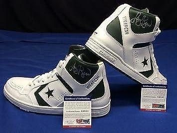 3c4eb1712d1697 Autographed Larry Bird Ball - Converse Weapon MID Shoes Double Cert. -  PSA DNA