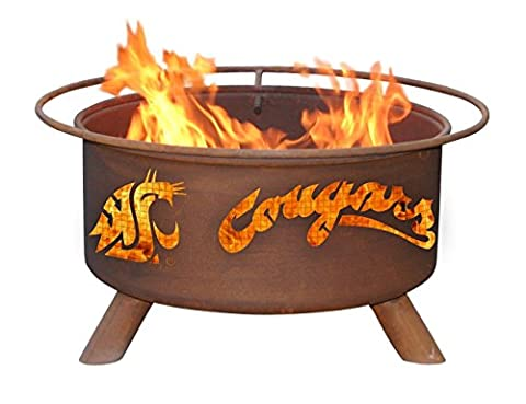 Patina Products F216, 30 Inch Washington State Cougars Fire Pit - Patina Pits