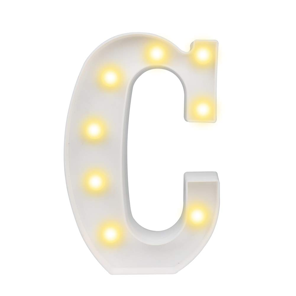 Pooqla DELICORE LED Marquee Letter Lights Alphabet Light Up Sign for Wedding Home Party Bar Decoration C