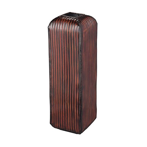 Sterling Vase - Sterling Industries 138-079 Arcola Red Ribbed Floor Standing Vase