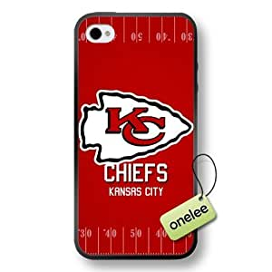 NFL Kansas City Chiefs Team Logo Case For Iphone 6 4.7Inch Cover Black Soft Hard (PC) Case CovBlack
