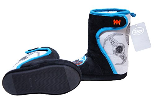 77e477bd30 Disney Store Little Boys Star Wars Darth Vader Plush Boot Slippers 9 10  Black