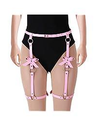 BODY CAGE Dance Lingerie Accessories Adjustable Buckle Female Punk Harness Garter Gothic Belt