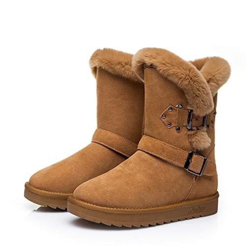 BNXXINGMU Winter  Warme Schneeschuhe Schuhe Frau Stiefel