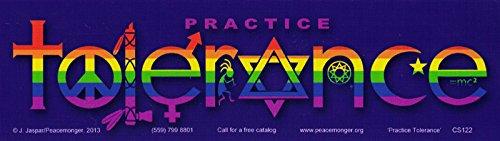 Practice Tolerance Rainbow - Diversity Magnetic Bumper Sticker / Decal (Diversity Magnet)