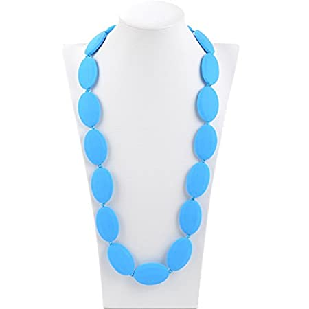 Consider It Maid Silicone Teething Necklace for Mom to Wear Original FREE E-BOOK Scarlet Red BPA FREE and FDA Approved