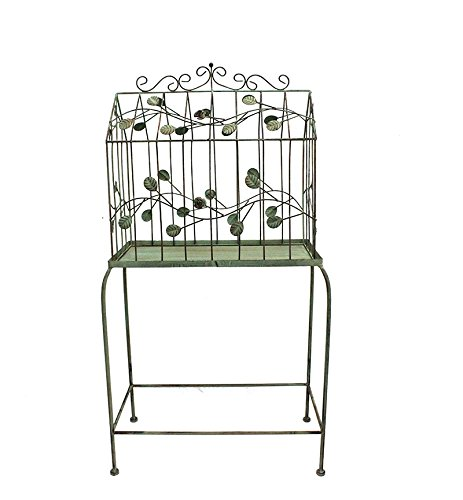 Essential Décor Entrada Collection Metal Bird Cage Stand, 39 by 11 by 19-Inch by Essential Dcor Entrada Collection