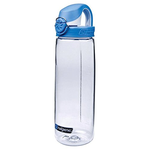 Nalgene Tritan On The Fly Water Bottle, Clear with Blue/Whit