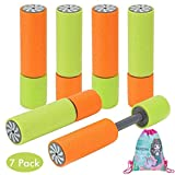 Amycute 6 Pcs Blaster Foam Water Gun, Water Blaster Soaker Water Shooter Summer Swimming Pool Toys Beach Sand Water Fight Game for Kids, Included Mermaid Drawstring Bag