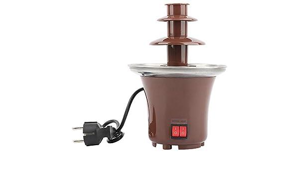 Fuente de Fondue de Chocolate de 3 Niveles, Choco Melts Dipping Warmer Machine, para Chocolate derretido, Caramelo, Mantequilla, Queso, Salsa de Caramelo: Amazon.es