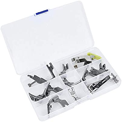 12Pcs Presser Feet, Steel Sewing Machine Kit Computer Flat Machine ...