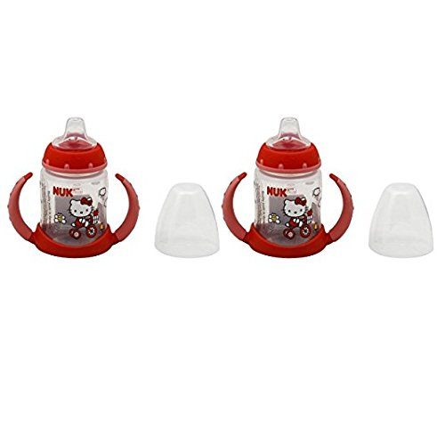 NUK Hello Kitty Learner Cup with Silicone Spout, 5-Ounce, 2 Count