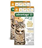 Product review for Bayer Advantage 2 Small Cat 2-Pack 5-9# Orange (Pack of 2)