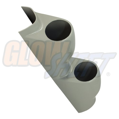 GlowShift Gray Dual Pillar Gauge Pod for 1992-1995 Honda Civic - Factory Color Matched - ABS Plastic - Mounts (2) 2-1/16