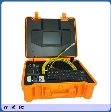Kohstar 50m fiberglass cable push rod pipe camera with 12pcs LED light and DVR recording function ()