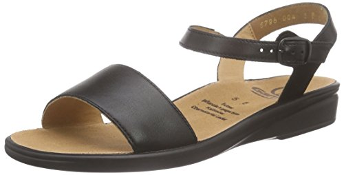 Ganter Sonnica, Weite E, WoMen Open Toe Sandals Black - Schwarz (Schwarz 0100)