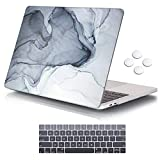 MacBook Pro 13 Case 2018 2017 2016 Release A1989/A1706/A1708, iCasso Hard Case Shell and Keyboard Cover for Apple New MacBook Pro 13' with/Without Touch Bar and Touch ID, Black White Drawing