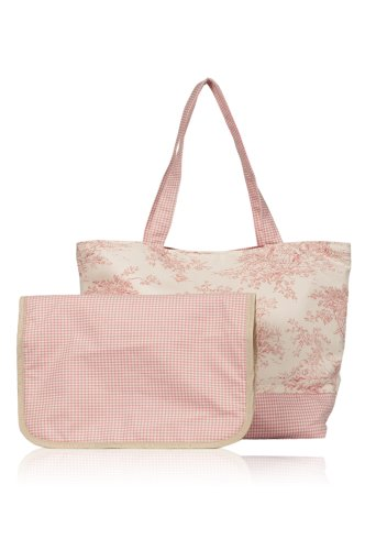 Pink Toile Changing Pad - Baby Tote (Pink Toile)