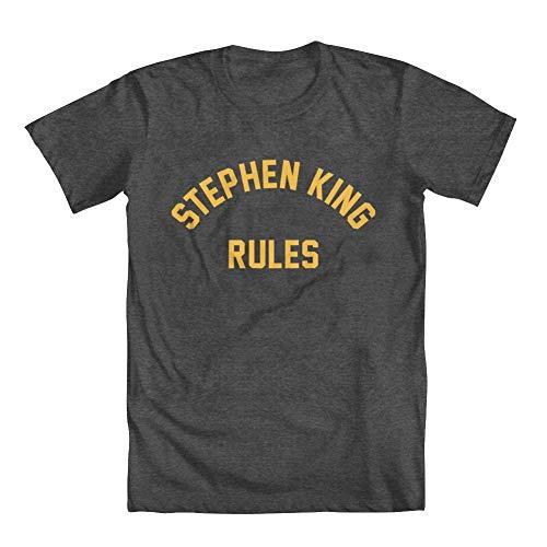 GEEK TEEZ Stephen King Rules Youth Girls' T-Shirt Charcoal Medium