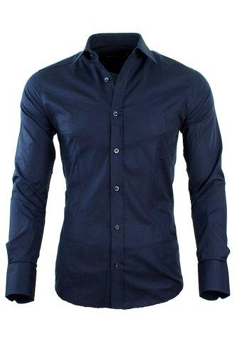Redbridge by CIPO & BAXX Slim Fit Hemd Polo Shirt Kentkragen Polo Verschiedene Farben (M, Navy)