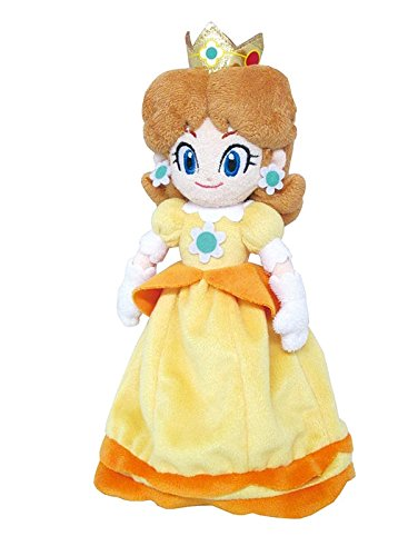 (Little Buddy Super Mario All Star Collection 1419 Daisy Stuffed Plush, 9.5