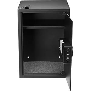 AmazonBasics Home Keypad Safe – 1.8 Cubic Feet, 13.8 x 13 x 19.7 Inches, Black – 50SAM