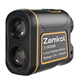 Zamkol Golf Laser Rangefinder, 1000 Yards Laser Rangefinder,IP54 Laser Binoculars for Hunting,Multi-Function Hunting Rangefinder with Speed/Vertical Height/Angle/Horizontal Distance Measurement