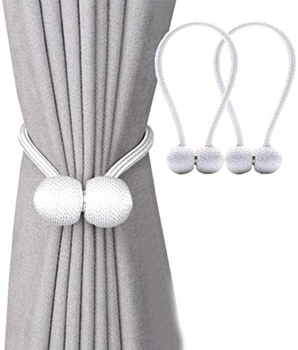 Details about  /Magnetic Ball Curtain Clip Holder Rope Strap Room Accessories Tieback Decoration