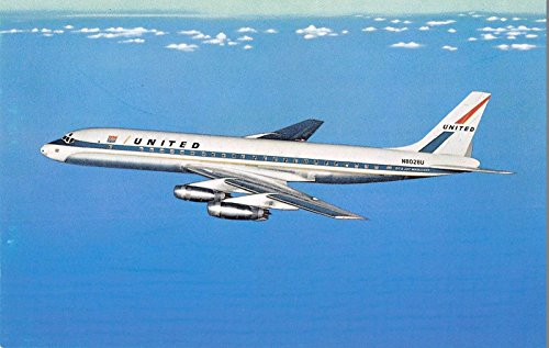 United Airlines DC-8 Jet Mainliner in Flight Vintage Postcard - Dc Airlines United