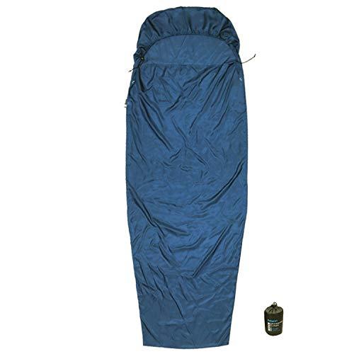 Browint Silk Sleeping Bag Liner Hooded Mummy, Silk Sleep Sack, Lightweight Travel and Camping Sheet, Reinforced ()