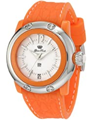 Glam Rock Womens GR23014 Miss Miami Beach White Dial Orange Silicone Watch