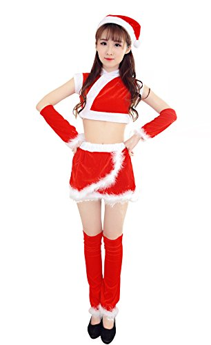 [YFFaye Women's 2 Piece Santa's Cutie] (4xl Santa Costume Uk)