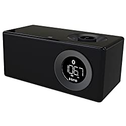 iHome Bluetooth Stereo Executive Music Station, Black (IBN10BC)