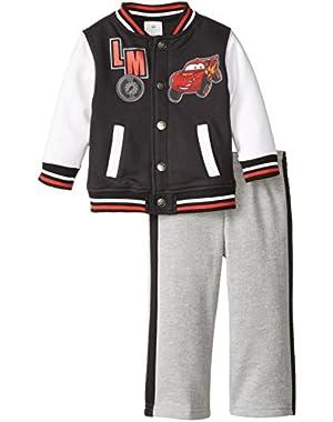 Disney Baby Boys' Cars 2 Piece Fleece Jacket Set