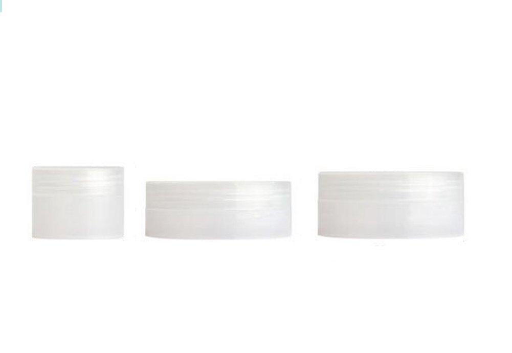 12pz plastica vuoto barattoli cosmetici trucco crema lozione contenitori cosmetici in polvere balsamo per le labbra glitter viaggio contenitore pot bottiglia, White, 10g Wilotick
