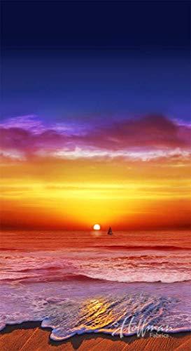 California Dreaming- Digital Panel -Sunset - by Hoffman Fabrics