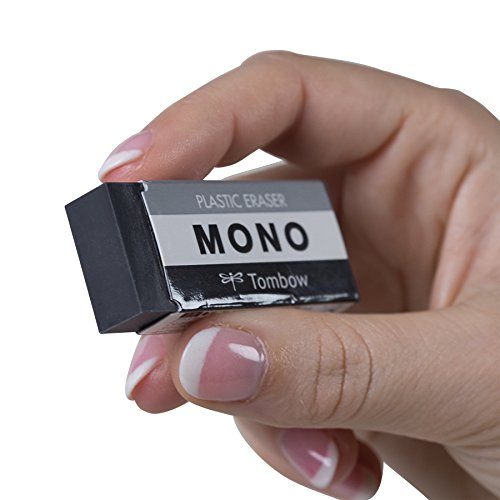 Tombow 57330 MONO Black Eraser, Medium, 3-Pack. Cleanly Removes Marks Without Damaging Paper by Tombow (Image #2)